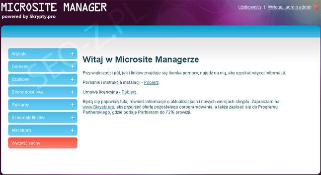 Microsite Manager
